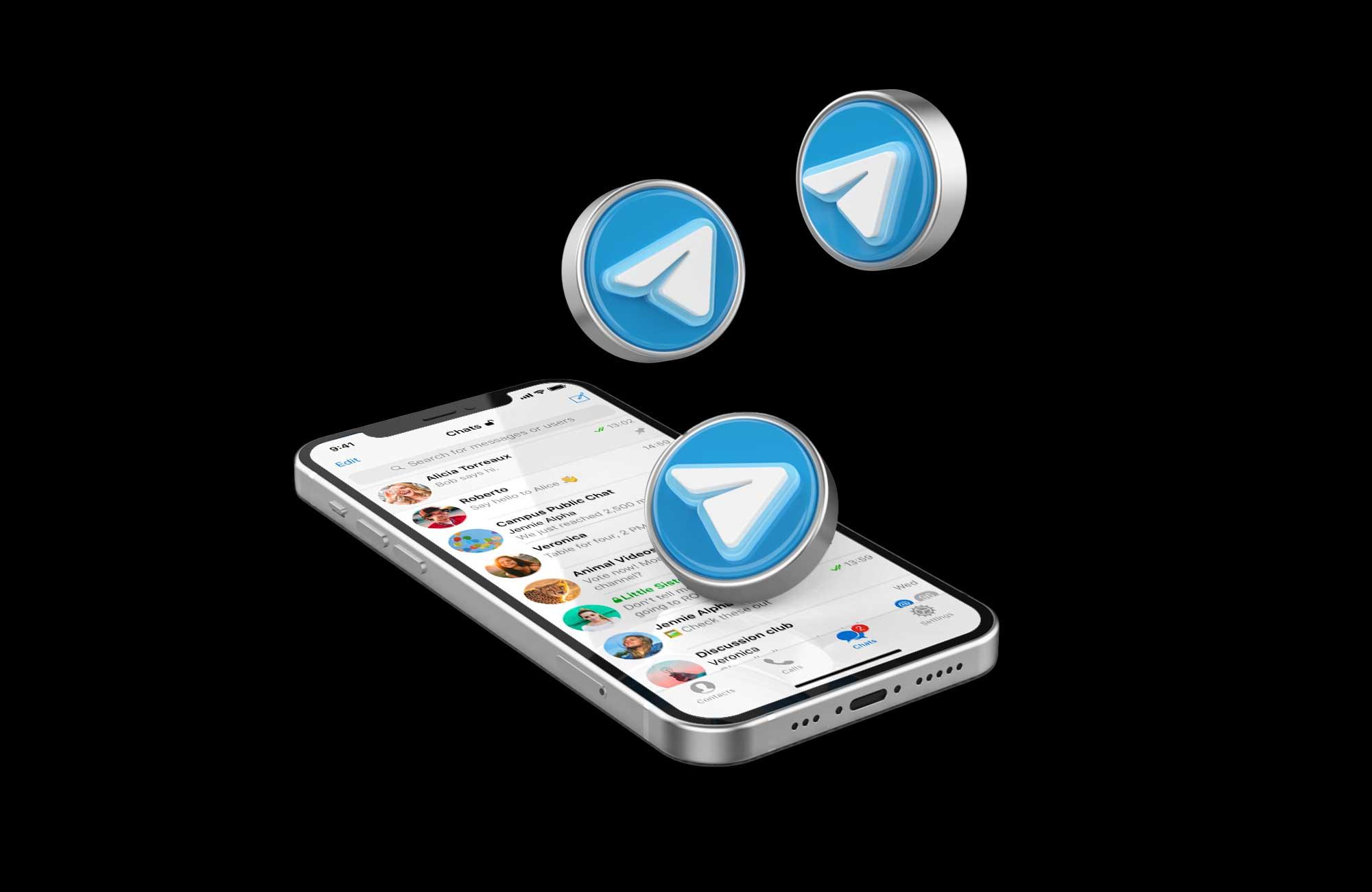 mc telegram mockup
